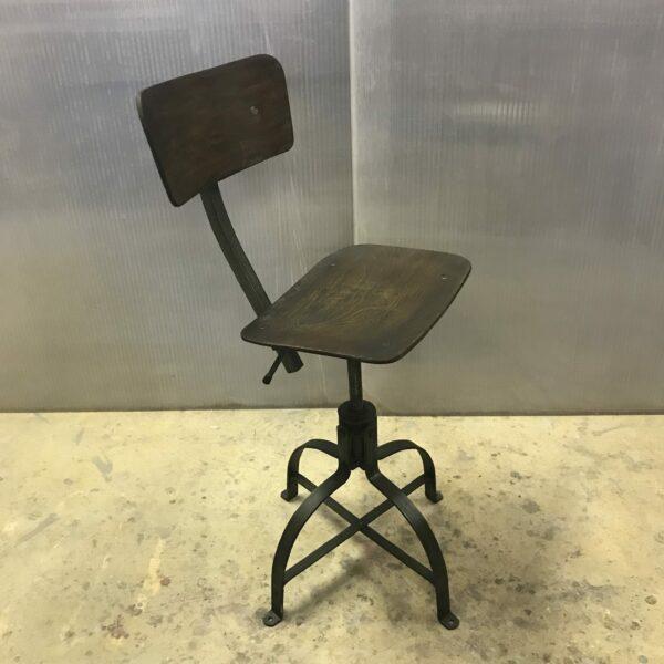 Chaise de metier Bienaise Anna colore industriale-9