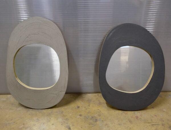 miroir en béton sur mesure MOBILIER INDUSTRIEL Design Italien Anna Farina fabrication artisanale piece unique ANNA COLORE INDUSTRIALE-18 2