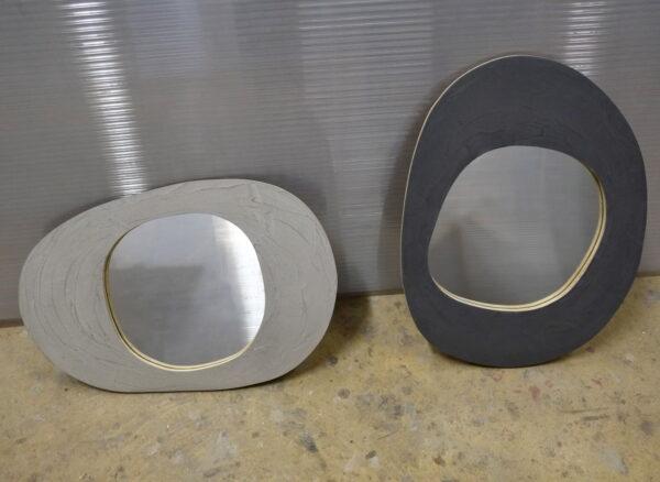 miroir en béton sur mesure MOBILIER INDUSTRIEL Design Italien Anna Farina fabrication artisanale piece unique ANNA COLORE INDUSTRIALE-21 2