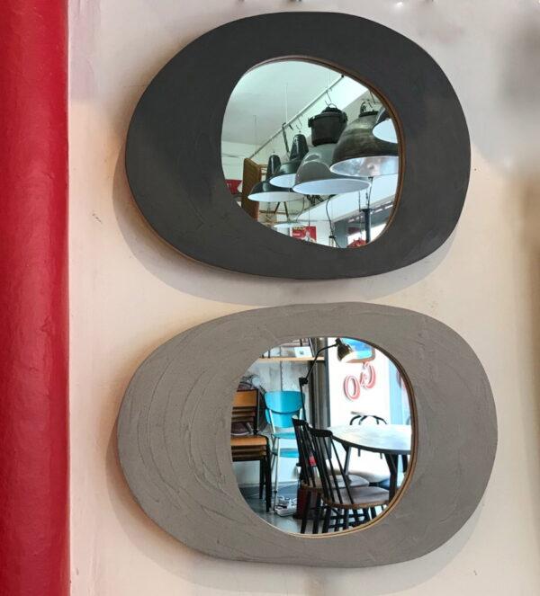 miroir en béton sur mesure MOBILIER INDUSTRIEL Design Italien Anna Farina fabrication artisanale piece unique ANNA COLORE INDUSTRIALE-31 2