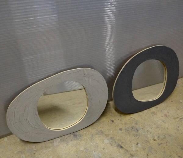 miroir en béton sur mesure MOBILIER INDUSTRIEL Design Italien Anna Farina fabrication artisanale piece unique ANNA COLORE INDUSTRIALE-5 2