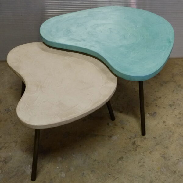 Table basse en béton sur mesure BOOMERANG Design italien Anna Farina fabrication artisanale Anna Colore Industriale-27