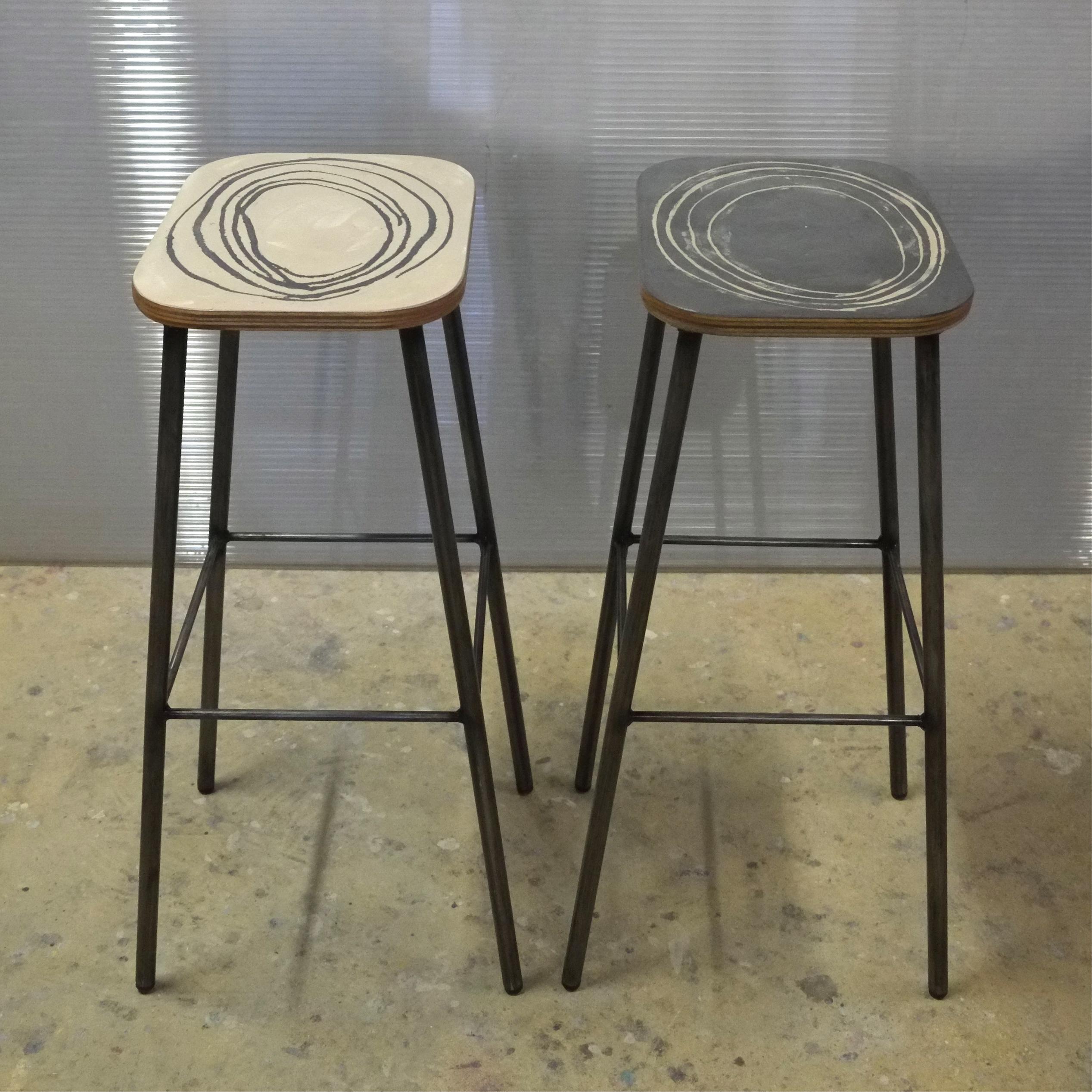 tabouret haut sur mesure okapi - meubles industriel | anna colore