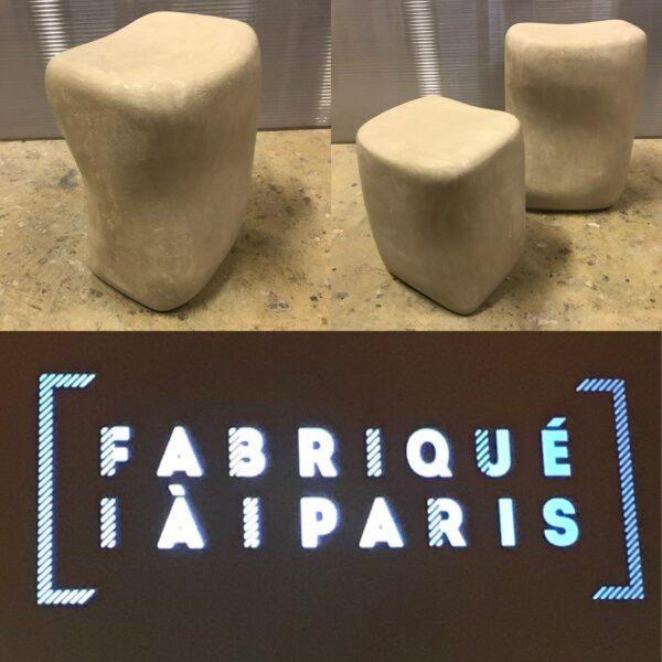 LABEL FABRIQUÉ À PARIS ANNA COLORE INDUSTRIALE tabouret béton design Italien Anna Farina CIOTOLO