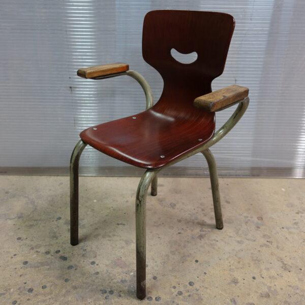 Petite chaise enfant Pagholz Flötotto années 60 style scandinave bois MOBILIER INDUSTRIEL ANNA COLORE INDUSTRIALE-3