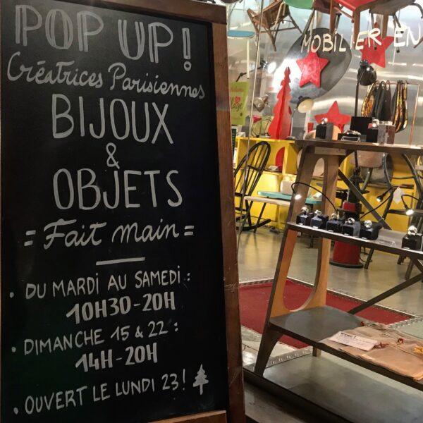 POP UP CREATRICES PARISIENNES BIJOUX OBJETS FAIT MAINS Anna Farina fabrication artisanale pièce unique ANNA COLORE INDUSTRIALE