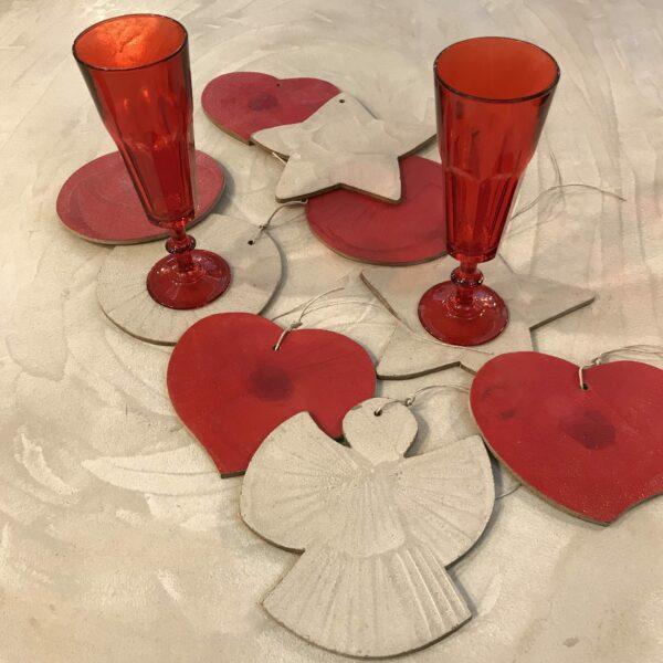 Plateaux dessus de verre décoration de sapin de Noël bois béton art de la table Design Italien Anna Farina fabrication artisanale pièce unique ANNA COLORE INDUSTRIALE-32