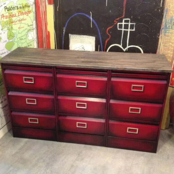Enfilade 3x3 clapets rouge 3