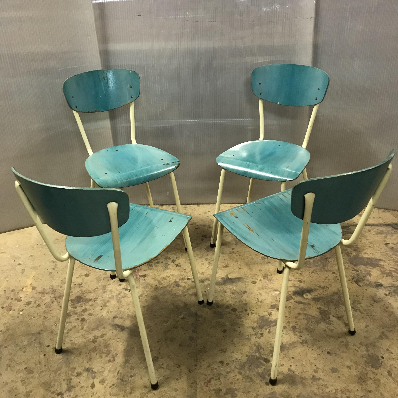Chaise Bois Et Metal Industriel chaises vintage bois
