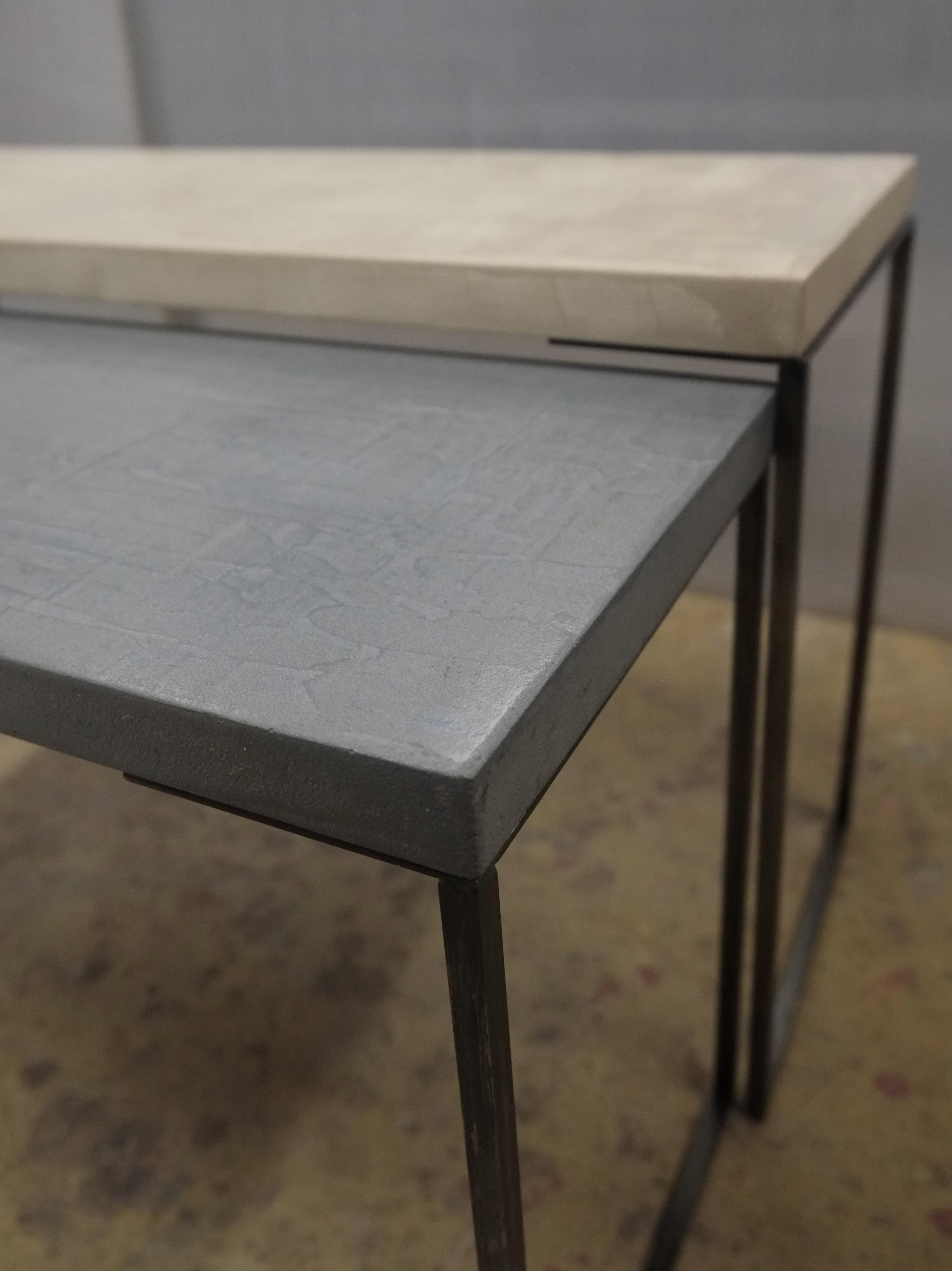 Table En Béton Ciré Et Bois tables basse en béton sur mesure cementino - meubles