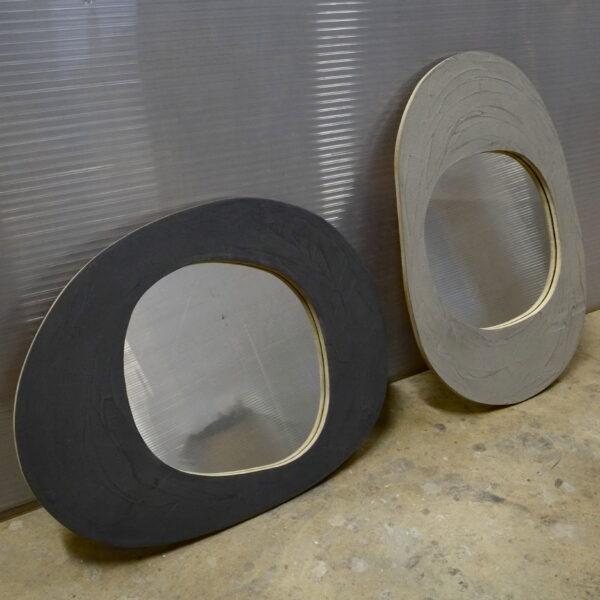 miroir en béton sur mesure MOBILIER INDUSTRIEL Design Italien Anna Farina fabrication artisanale piece unique ANNA COLORE INDUSTRIALE-1 2