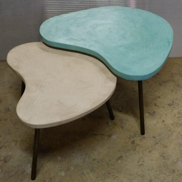 Table basse en béton sur mesure BOOMERANG Design italien Anna Farina fabrication artisanale Anna Colore Industriale-27