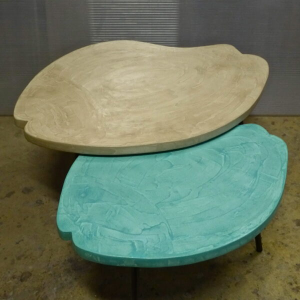 Table basse en béton sur mesure PESCE Design Italien Anna Farina fabrication artisanale Anna Colore Industriale-15