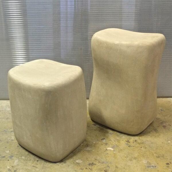 Sculptures en béton sur mesure Tabouret concrete carved stool Ciotoli MOBILIER INDUSTRIEL Design Italien ANNA Farina fabrication artisanale pièce unique ANNA COLORE INDUSTRIALE -56
