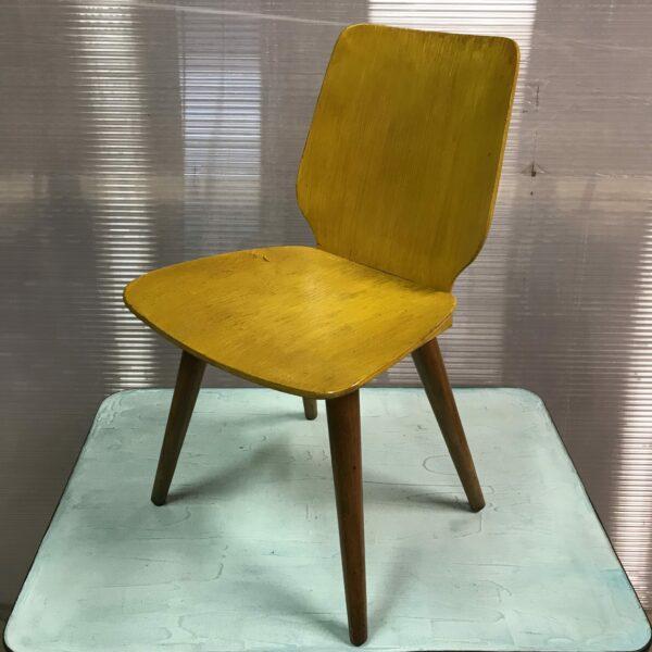 Chaise enfant vintage bois couleur moutarde MOBILIER INDUSTRIEL ANNA COLORE INDUSTRIALE-4