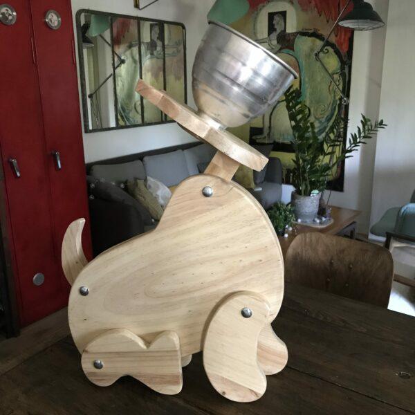 MÉDOR LAMPE DE COMPAGNIE Création Lampe articulé en bois MOBILIER INDUSTRIEL Design Italien Anna Farina fabrication artisanale pièce unique ANNA COLORE INDUSTRIALE-6