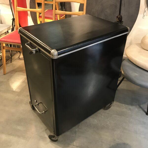 meuble pour dossier suspendus meuble de metier sur roulettes bar, patine anthracite MOBILIER INDUSTRIEL ANNA COLORE INDUSTRIALE-1