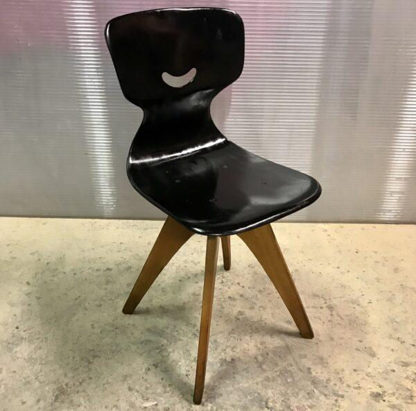 Chaise PAGHOLZ Flötotto ADULTE VINTAGE années 60 style scandinave bois MOBILIER INDUSTRIEL ANNA COLORE INDUSTRIALE-4