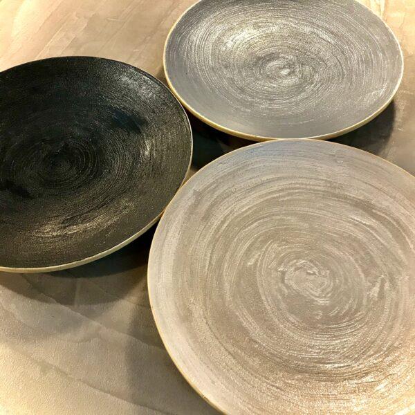 Assiette Plateau dessus finition béton art de la table Anna Farina pièce unique ANNA COLORE INDUSTRIALE-1