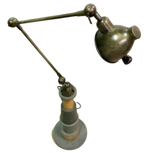 LISEUSE ANCIENNE LAMPE ARTICULÉ METAL BOIS MOBILIER INDUSTRIEL ANNA COLORE INDUSTRIALE-6